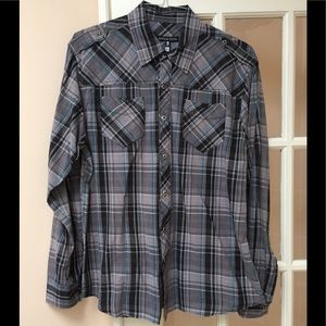 Men's Affliction Button Down Shirt
